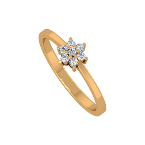 Mee T Floral Gold Diamond Ring