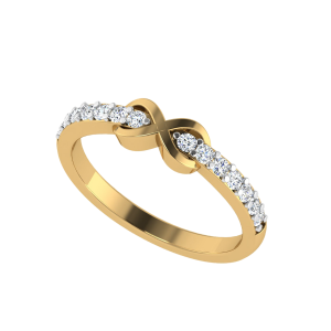 Infinity Half Eternity Diamond Ring