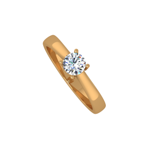 The Key Solitaire Gold Diamond Solitaire Ring