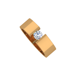 The Captive Solitaire Gold Diamond Solitaire Ring