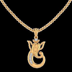 Lord Ganesh Diamond Pendant