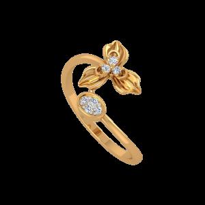 The Flower Land Gold Diamond Ring