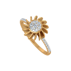 The Sun Suave Gold Diamond Ring