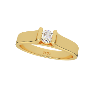 The Solitaire Elegance Gold Diamond Ring