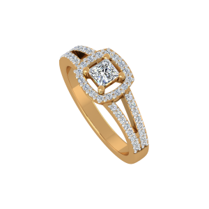 Smart Square Gold Diamond Ring