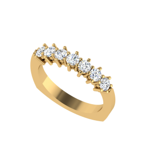 Seven Wonders Half Eternity Diamond Ring