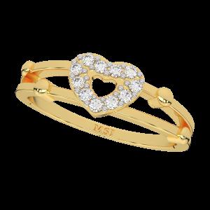 The Mystic Heart Gold Diamond Ring