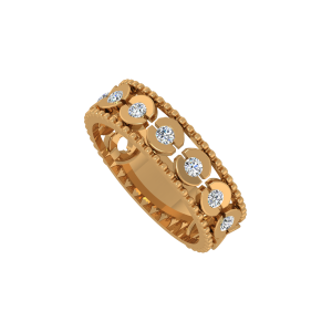 The Glitter Glace Gold Diamond Ring