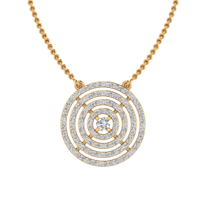The Bulls Eye Diamond Pendant