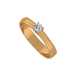 The Sweetest Solitaire Gold Diamond Ring