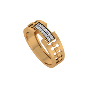 The Poser Gold Diamond Ring