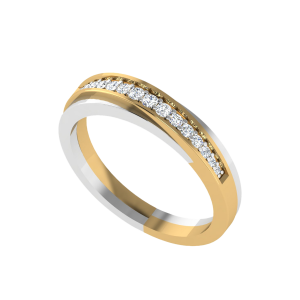 Two Tone Treat Diamond Ring