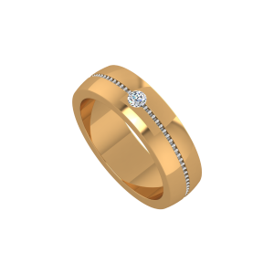 The Shine Settle Gold Diamond Ring