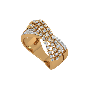 The Urbane Flyover Gold Diamond Ring