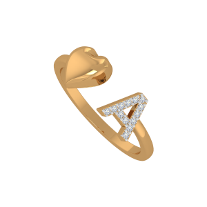 The Alice A Gold Diamond Ring