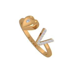 The Love Poseur Gold Diamond Ring