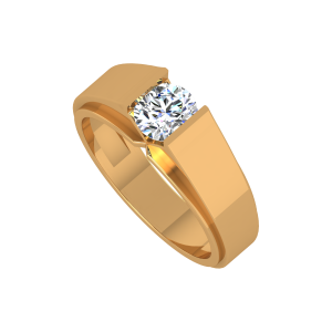 Boldly Solitaire Gold Diamond Ring