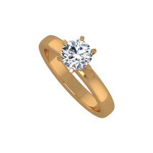 The Solo Solitaire Gold Diamond Ring