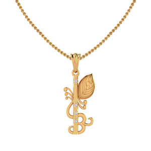 The Krishna Flute Diamond Pendant