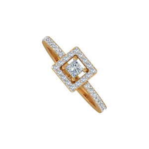 The Sweet Square Gold Diamond Ring