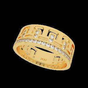 The Golden Gloria Gold Diamond Ring