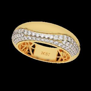 The Free Flow Gold Diamond Ring