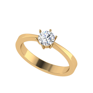Classic Six Prong Engagement Solitaire Ring