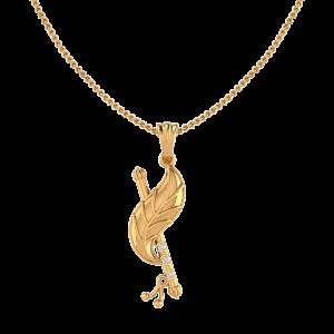Lord Krishna Flute Diamond Pendant