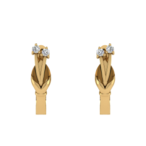 The Right Time Diamond Hoop Earrings