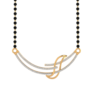 Ideally Split Mangalsutra With Black Beads Gold Chain