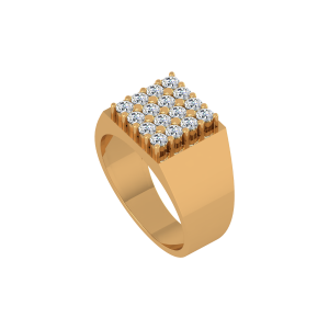 The Robust Gold Diamond Mens Ring