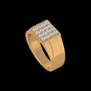The Vigorous Gold Diamond Mens Ring