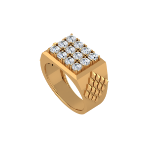 The Checkmate Gold Diamond Ring