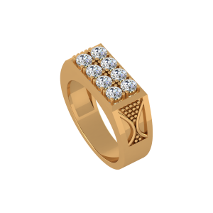 The Power Ridge Gold Diamond Ring