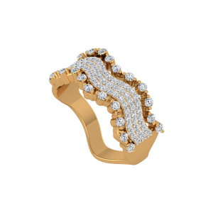 The River Flow Gold Diamond Ring