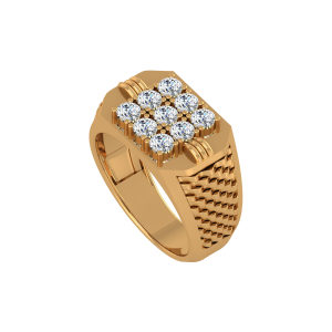 The Resilient Gold Diamond Mens Ring