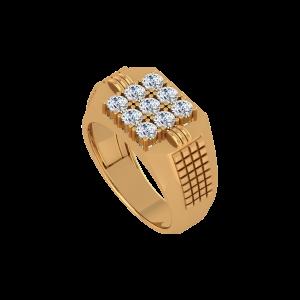 The Splendid Nine Gold Diamond Ring