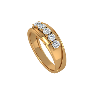 The Sparkle Line Gold Diamond Ring