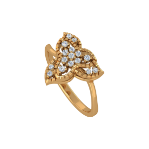 Floral Views Gold Diamond Ring