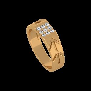 The Diamond Delight Gold Diamond Ring