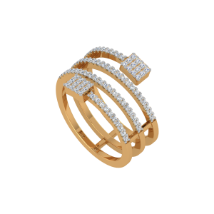 Endless Glitter Gold Diamond Ring