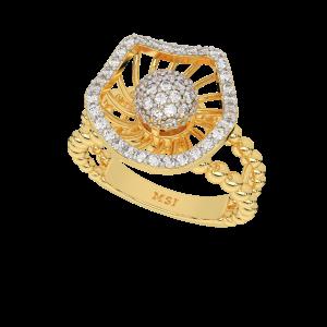 Touche Romantique Designer Diamond Ring