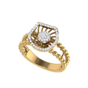 Touche Romantique Designer Diamond Ring