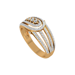 Maverick Merger Gold Diamond Ring