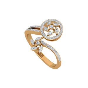 Dual Dressed Gold Diamond Ring