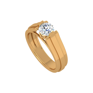 The Cool Solitaire Gold Diamond Ring