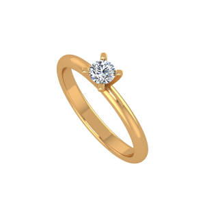 The Solitaire Delight Gold Diamond Ring