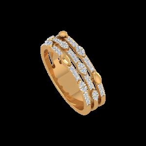 The Flowy Fashion Gold Diamond Ring