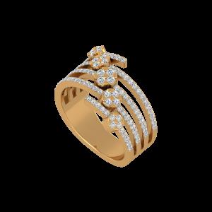 The Round Rhythm Gold Diamond Ring