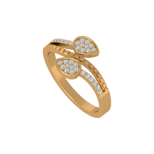 The Pears Track Gold Diamond Ring